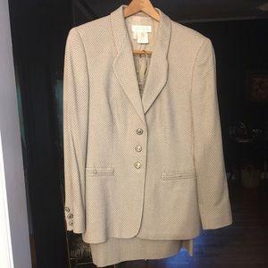 Escada Couture Vintage 1980s Womens 34 4 Purple 2 Pc Suit Skirt /& Jacket Set Retro Power Cuffs Square Neck Rare HTF